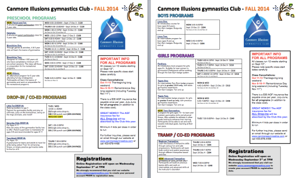 FALL 2014 Programs