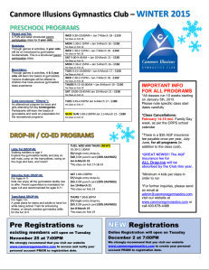 2015 Winter Program